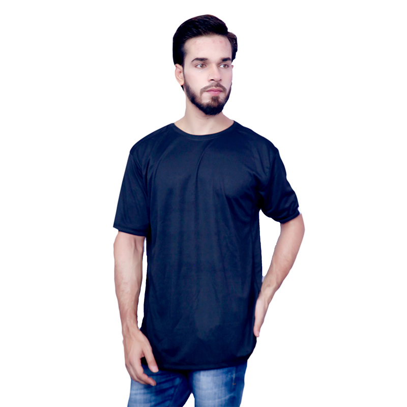 Moglies Black Cotton T-sh