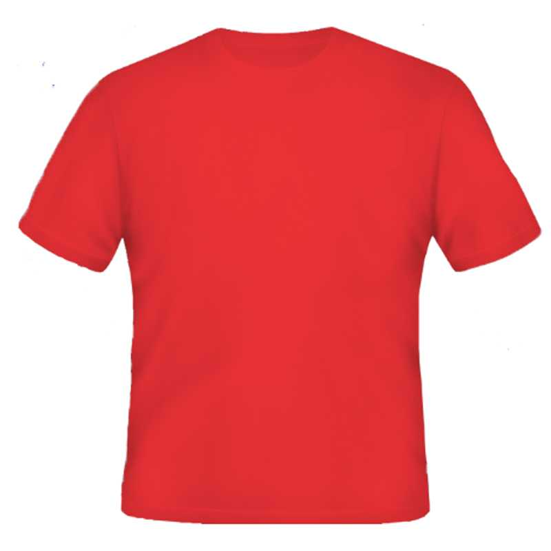 Round Neck Tshirt_ Red