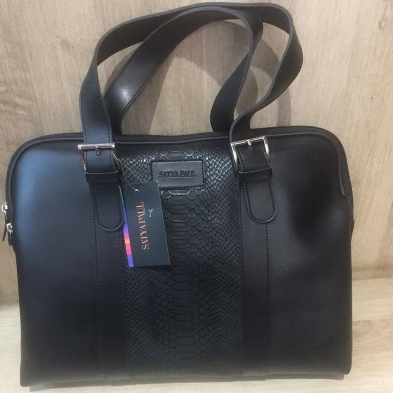 Satya Paul Leather Bag (Black)