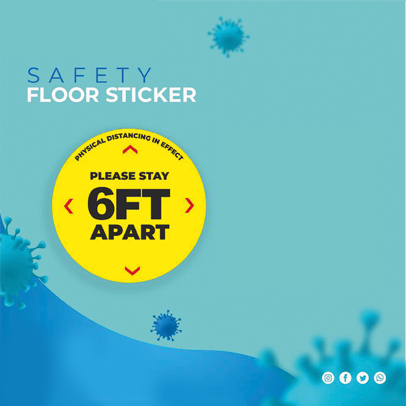 Safety Floor Sticker